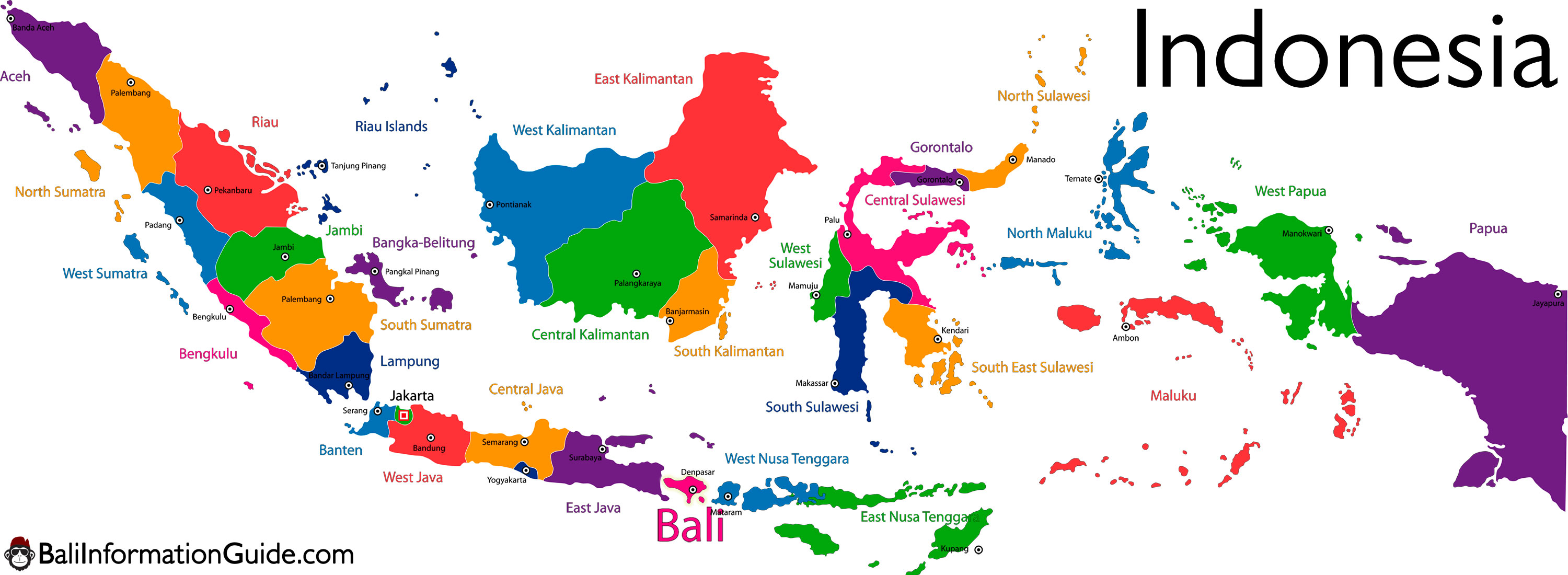 Where is Bali Indonesia? Detailed Maps of the island of region